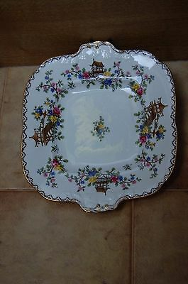 Vitage Aynsley Pagoda Cake/sandwich Plate - Very Pretty And In A Great Condition