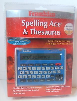 Franklin Spelling Ace & Thesaurus SA-209 Unopened Dust Inside Packaging
