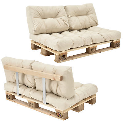 euro paletten sofa kissen anthrazit 2er palettenpolster r ckenlehne eur 148 49. Black Bedroom Furniture Sets. Home Design Ideas