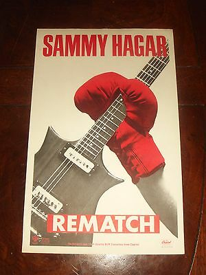 "Rare Vintage SAMMY HAGAR ""REMATCH"" 1982 CAPITOL RECORDS PROMO POSTER"
