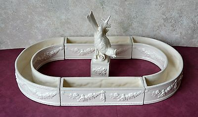 VTG Ceramic Centerpiece by Ardalt Artware of Japan, Bird White porcelain Planter