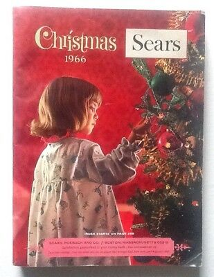 Vintage 1966 Sears Roebuck & Company Christmas Wishbook Catalog