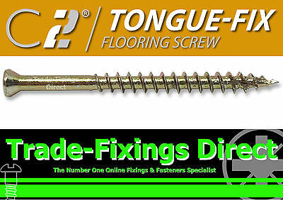 Timco Tongue Fix Flooring Screws Floor Boards Tongue & Groove 3.5Mm X 45Mm