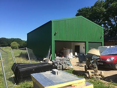 Used Steel Framed Building 15m x 20m x Eave 4.5m single skin cladding