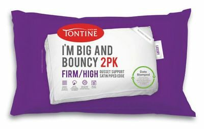Tontine I'm Big & Bouncy 2 pack Firm & High Pillows Date Stamped