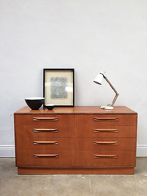 G Plan Fresco Teak Chest of Drawers / sideboard. Danish Retro 1970s. DELIVERY