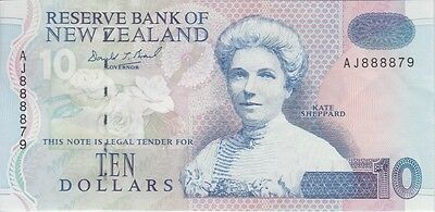 NEW ZEALAND BANKNOTE P# 178 a 10 DOLLARS EXTRA FINE PLUS USA SELLER