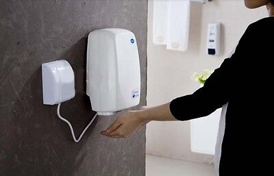 New Ultrathin White Plastic Wall Mounted Automatic Induction Hand Dryer Machine
