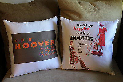 Vintage Vacuum Cleaner Floor Sweeper Hoover Throw Pillow Cases Retro Modern