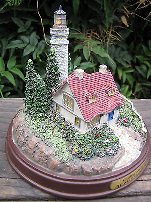 Thomas Kinkade Lighthouse Clearing Storms Light Up Tower and Window Nautical