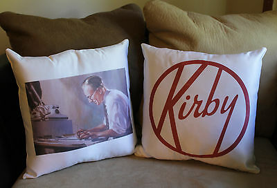Vintage Vacuum Cleaner Floor Sweeper Kirby Throw Pillow Cases Retro Modern