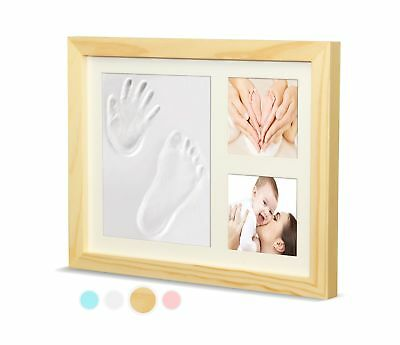 Ninos Baby footprint Handprint and Wooden Picture Frame Kit  Memory Maker for...