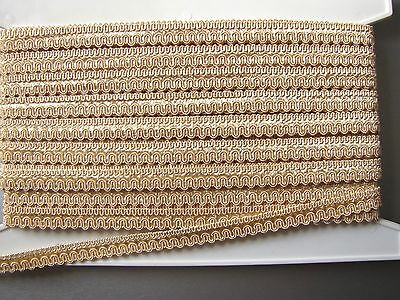 PROMO : 22 METRES PASSEMENTERIE GALON LEZARDE TAPISSIER, coquille d'oeuf, 14 mm