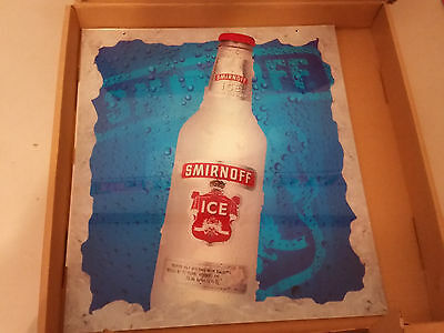 "Smirnoff Ice Light Up Sign 18"" X 16"" Brand New Man Cave Must Have ! Rare !!"