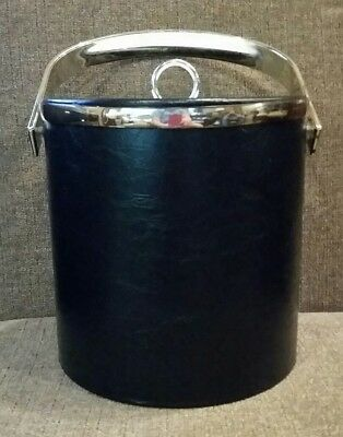 Black Faux Leather Ice Bucket