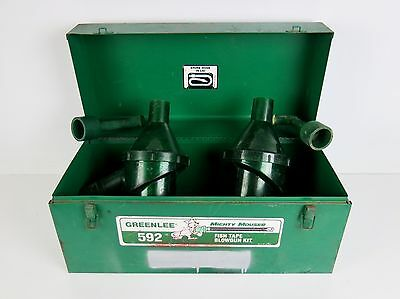 Greenlee 592 Mighty Mouser Blow Gun Set of 2 + Metal Case