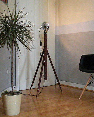 retro loft tripod studio stehlampe bauhaus industriedesign stativ lampe leuchte eur 31 50. Black Bedroom Furniture Sets. Home Design Ideas