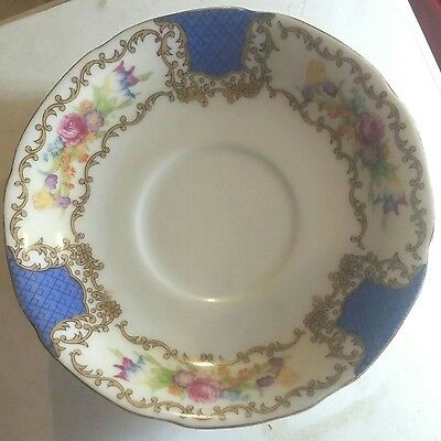 8 Lovely Saucers Chatham CTM1Japan Cobalt Flowers