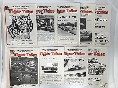 VINTAGE AUTHENTIC Tiger Tales Vol. 10, #1-9 California Assoc. of Tiger Owners