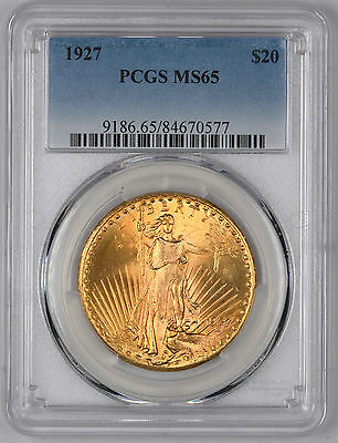 1927 Saint Gaudens Gold Double Eagle $20 - PCGS MS65 -