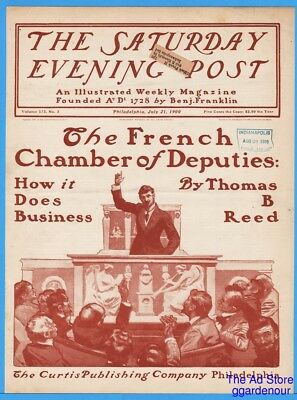 1900 Saturday Evening Post COVER ONLY George Gibbs Art French Chamber Deputies