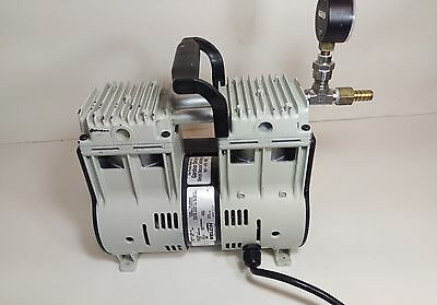 Welch 2585b-55 Vacuum Pump Lab 1 Phase Vacuum/Pressure Standard Duty Dry Pump