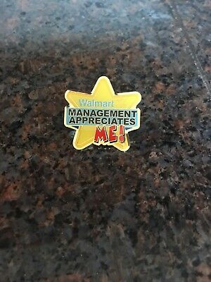 Management Appreciates Me Walmart Pin
