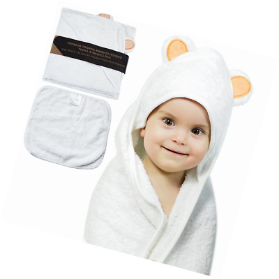 Organic Bamboo Hooded Baby Bath Towel By JoL's Home – Soft & Luxurious Infant Ba