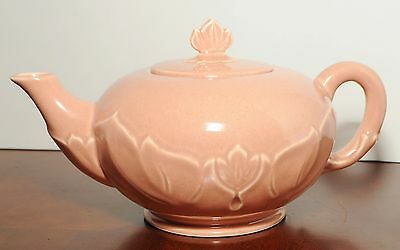 Steubenville Russell Wright Woodfield Coral Teapot with lid