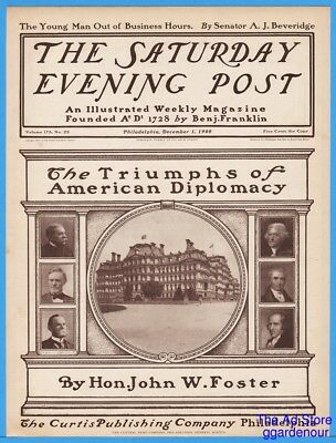 1900 Saturday Evening Post COVER ONLY President State Dept Photos December 1