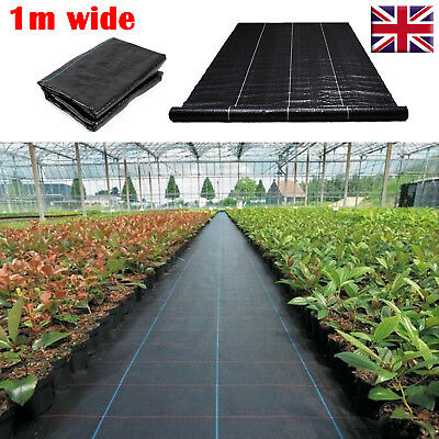 100gsm 1m Weed Control Fabric Membrane Ground Cover Landscape Mulch Driveway
