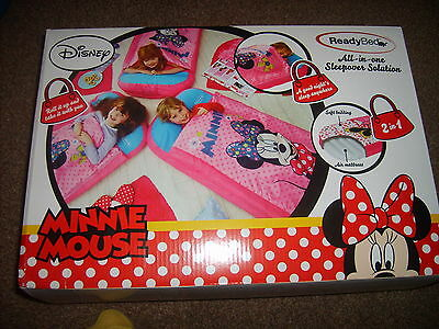 Minnie Mouse Junior Readybed Ready Bed Sleepover Sleeping Bag inflatable