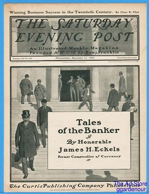 1900 Saturday Evening Post COVER ONLY Tales Of The Banker November 17