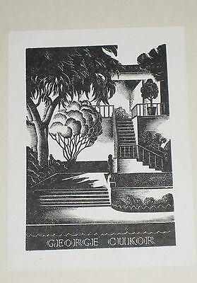 Paul Landacre Bookplate Ex Libris of George Cukor in Citizen Hearst by Swanberg