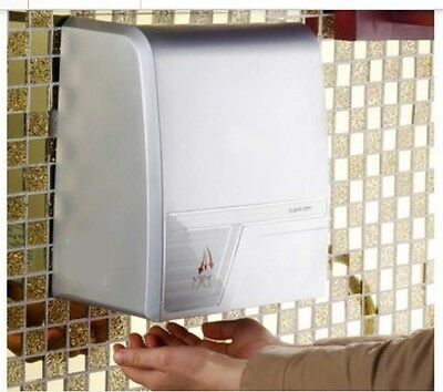 Luxury Silvery Wall Mounted Quick Drying Automatic Induction Hand Dryer Machine