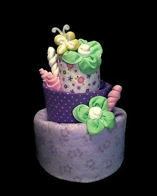 Diaper Cake, Boy, Girl, Gender Neutral!  Made to Order!  Butterfly & Lollipops!