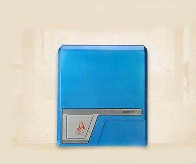 Blue Plastics Wall Mounted Automatic Induction Quick Drying Hand Dryer Machine