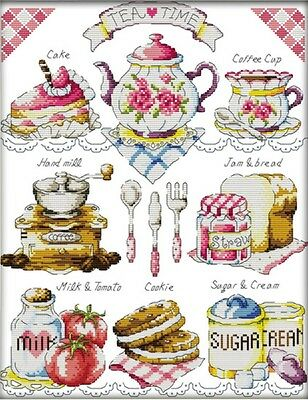 Teatime. 14CT counted cross stitch kit. Craft brand new.
