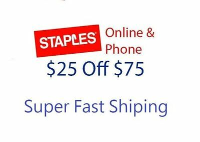 Staples $25 Off $75 Or More Coupon Online Or Phone Expires 07/29/2017