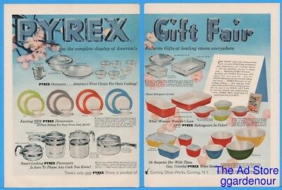 1954 Pyrex Ovenware Bakeware Dishes Pots Pans Coffee Maker Storage Glass Ad