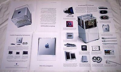 """Power Mac G4 Cube Apple Computer vintage brochure poster 20"""" by 30"""" from 2000"""