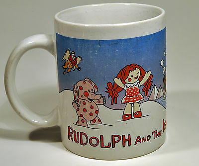 Vintage Rudolph and the Island of Misfit Toys Coffee Mug Cup