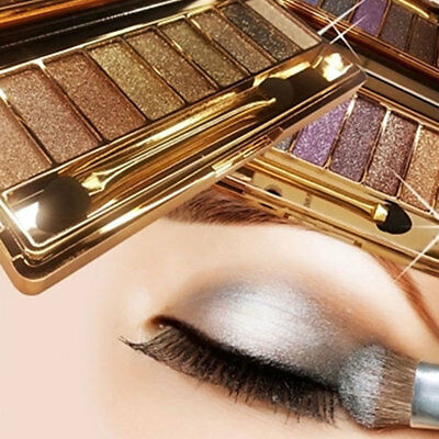 9 Colors Shimmer Eyeshadow Eye Shadow Palette & Makeup Cosmetic Brush