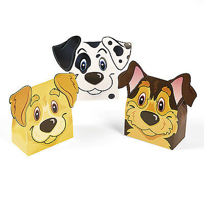 12 Puppy Party Assorted Favor Boxes Treats Candy Toys Nuts Birthday Dog Event