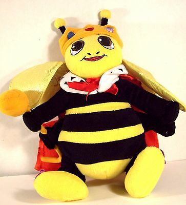 "SPELLING BEE Stuff Plush Insect Animal QUEEN BUMBLE BEE 10"" SUGAR LOAF"