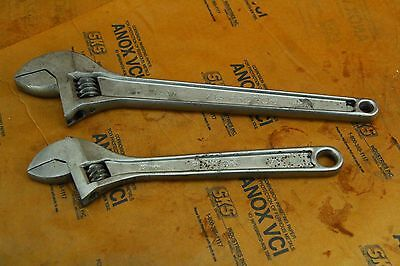 "TWO PRONTO PROFESSIONAL 15"" AND 12""  ADJUSTABLE Crescent Wrench Model 715 & 712"