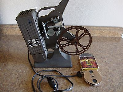 Vintage Keystone 16 mm Projector with Films, Working