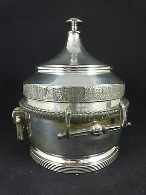 Antique REED & BARTON Silverplate Covered Butter Dish - EAPG Glass w/ Cow Insert