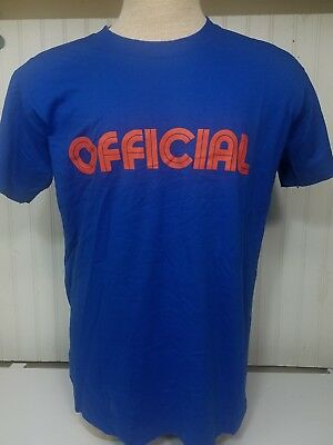 Vintage 70s 80s Nike Swoosh Blue Tag OFFICIAL Blue T Shirt Mens Large