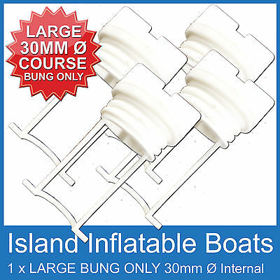 4 X Large ✱ Replacement Bung Only Black ✱ Plug Boat Marine Coarse Thread Bungs